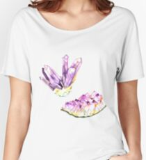 Amethyst Crystal and Geode Women's Relaxed Fit T-Shirt