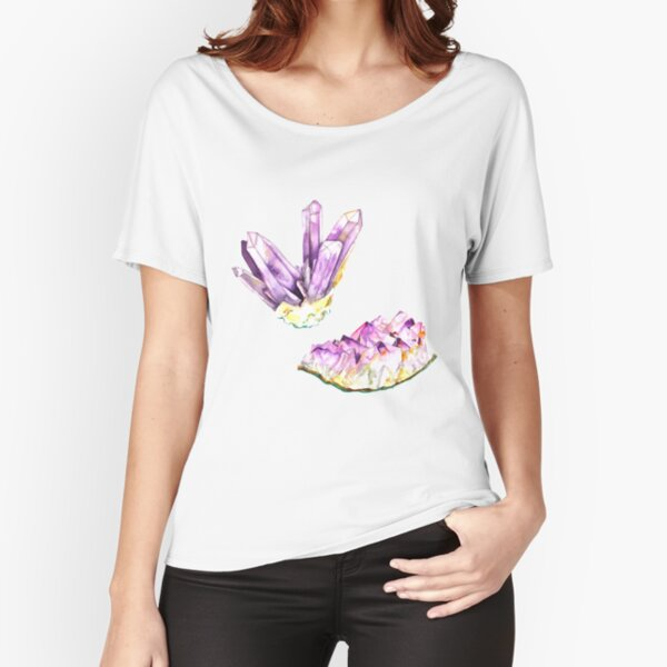 Amethyst Crystal and Geode Relaxed Fit T-Shirt
