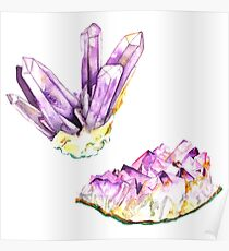 Amethyst Crystal and Geode Poster