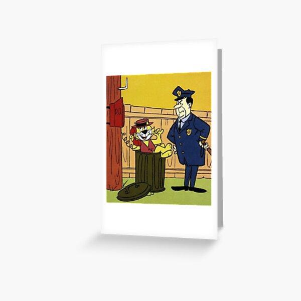 Officer Dibble Mask Mens Fancy Dress Top Cat Cartoon Character Adults Costume