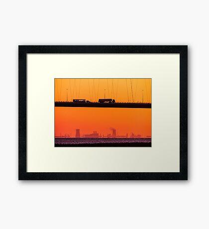 Working Dawn Framed Print