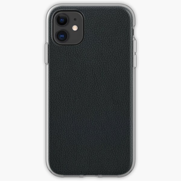 Black leather texture iPhone Soft Case
