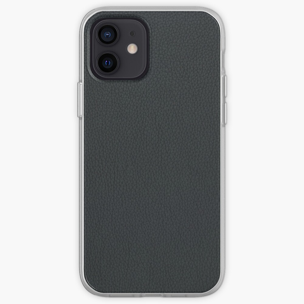 Black leather texture iPhone Case & Cover