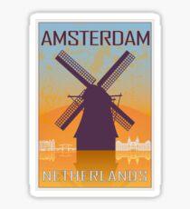 Amsterdam vintage poster Sticker