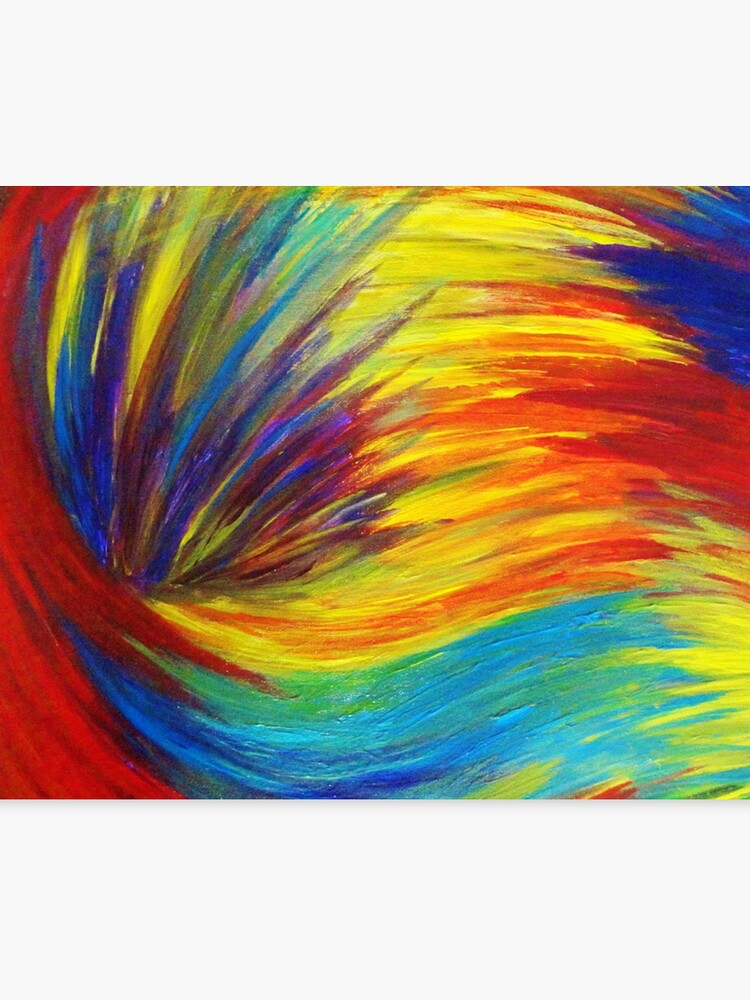 Rainbow Explosion Vibrant Smile Happy Colorful Red Bright Blue Sunshine Yellow Abstract Painting Canvas Print