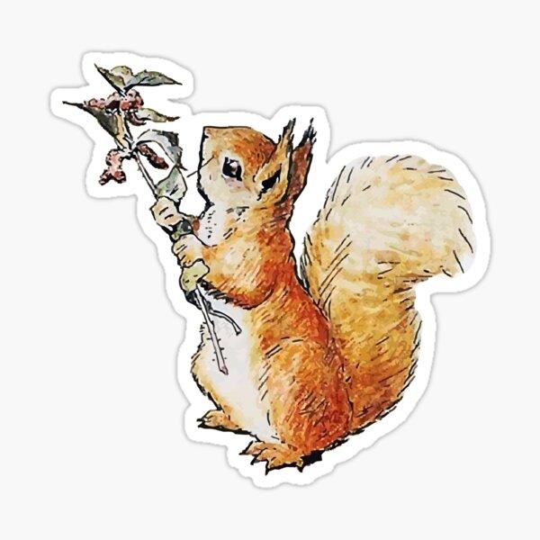 squirrel nutkin hi res vector Sticker