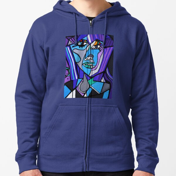 ART DECO   PICASSO BY NORA Zipped Hoodie