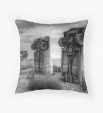 Carhenge Throw Pillow