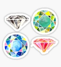 Watercolor Diamonds – April Birthstone Sticker