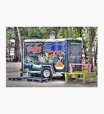 Food Van at Arawak Cay in Nassau, The Bahamas Photographic Print