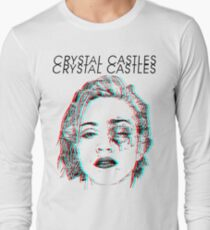 Crystal Castles Alice Face Long Sleeve T-Shirt