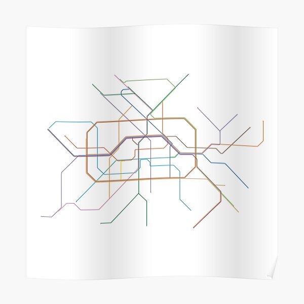 Berlin Rail Map Poster
