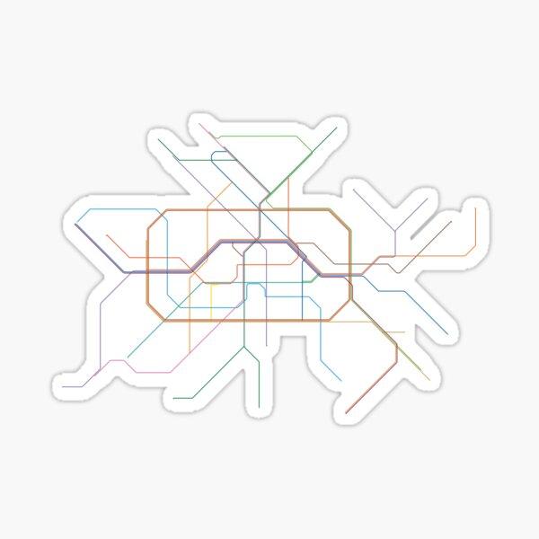 Berlin Rail Map Sticker