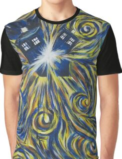 Tardis in Time Wortex Explosion Graphic T-Shirt