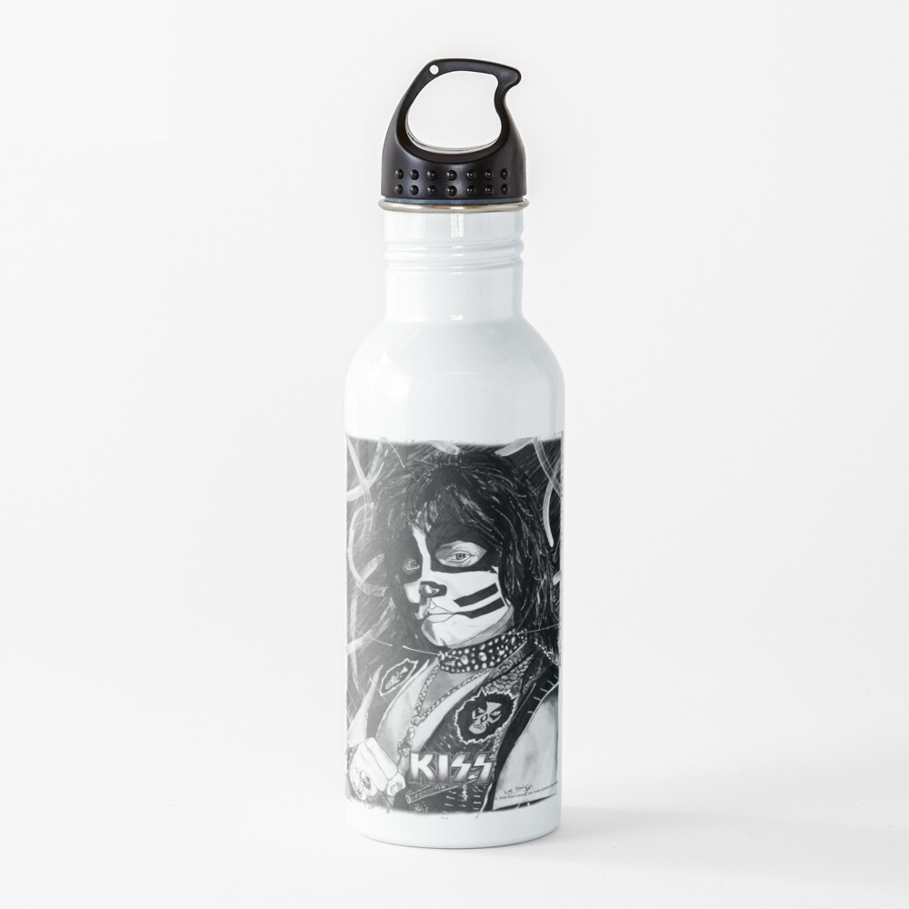 Catman - Ink Original (Black and White with Logo) Water Bottle