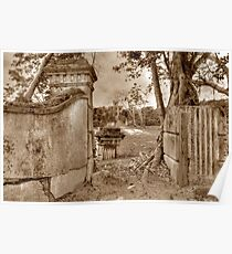 Historical Ruins on West Bay Street in Nassau, The Bahamas Poster