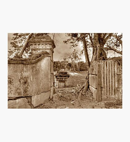 Historical Ruins on West Bay Street in Nassau, The Bahamas Photographic Print