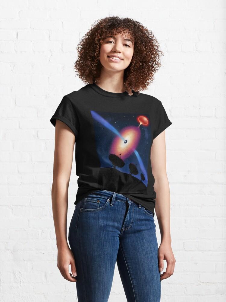 Alternate view of Radio telescopes and a neutron star Classic T-Shirt