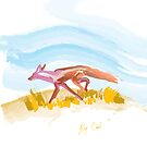 Running Fox-formatted for iPad Case by Ray Cassel