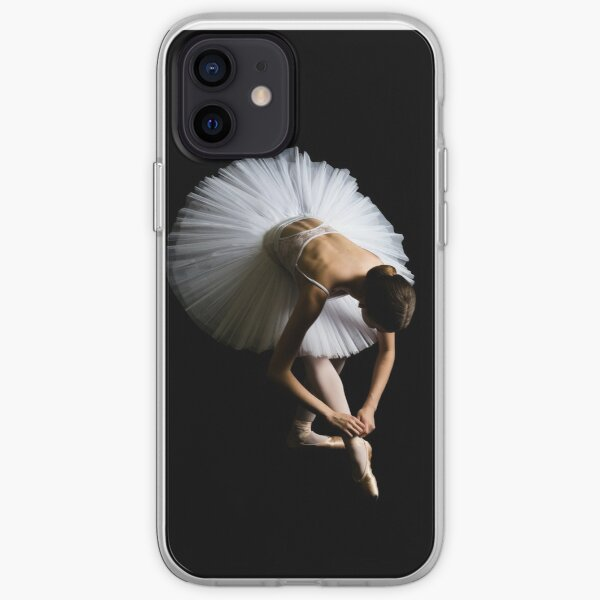 Ballerina Tieing Her Ribbons iPhone Soft Case