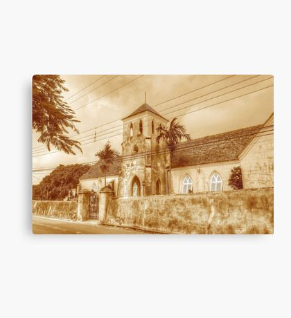 St. Francis Xavier Catholic Cathedral in West Street - Nassau, The Bahamas Canvas Print