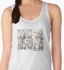 The Hurricane Bob Dylan T-shirt Women's Tank Top