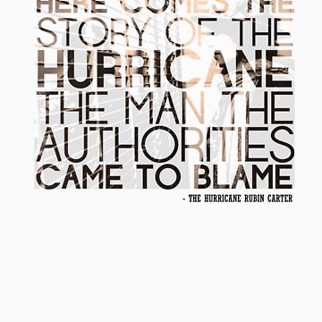 The Hurricane Bob Dylan T-shirt by jackthewebber