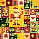 Christmas Pattern No. 1 by chobopop