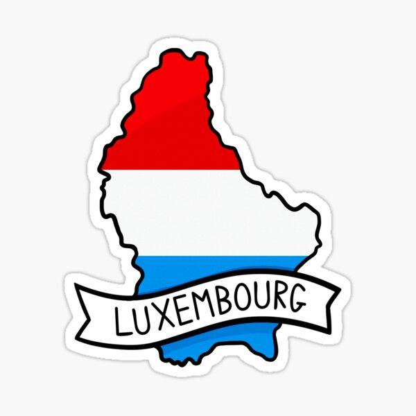 Luxembourg Flag Map Sticker Sticker