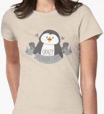 Crazy penguin Lady Banner T-Shirt