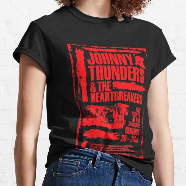 Johnny Thunders London Marquee Poster - impression rouge. T-shirt classique