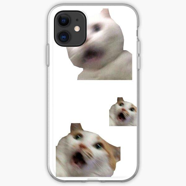 11 pack cats memes sticker combo - weird cat memes 4 iPhone Soft Case
