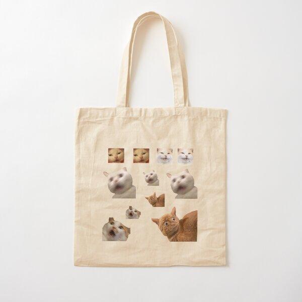 11 pack cats memes sticker combo - weird cat memes 4 Cotton Tote Bag