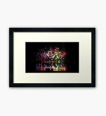 Firework Reflections Framed Print