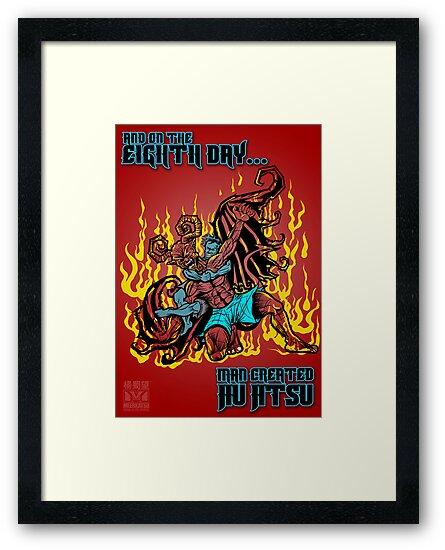 On The Eighth Day Man Created Jiu Jitsu by Meerkatsu