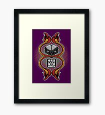 Honey Badger and cobras Framed Print