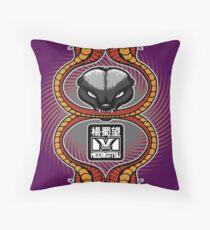 Honey Badger and cobras Throw Pillow