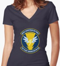 Wonderbolt Squadron Shirt (Large Patch) Women's Fitted V-Neck T-Shirt