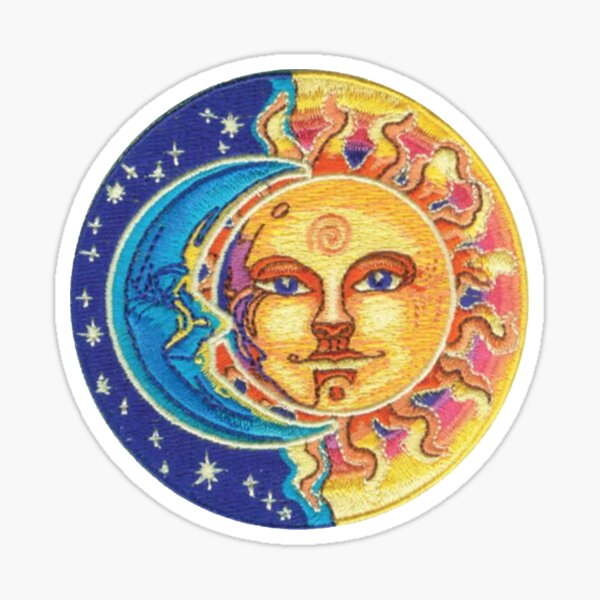 Sun and Moon Patch Sticker