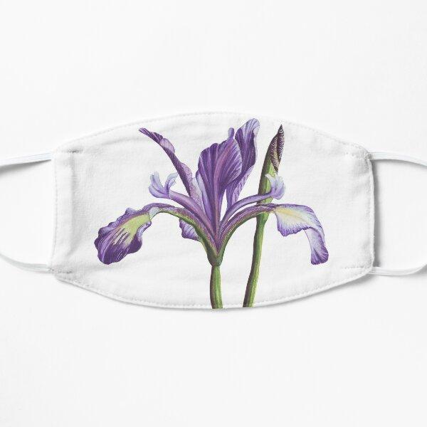 Purple Iris flower in watercolor Small Mask