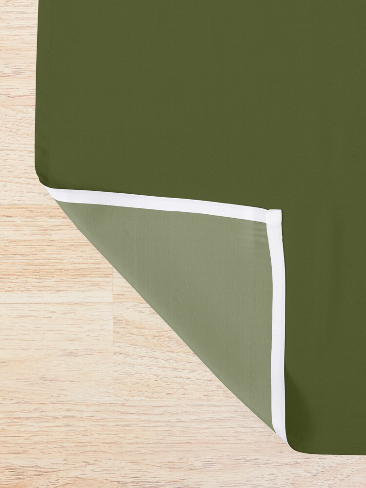 Alternate view of Simply Solid - Army Green Shower Curtain