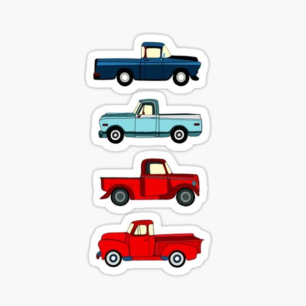Winter Vintage Trucks  Sticker