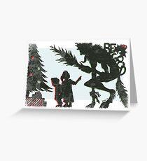 Krampus - Silhouette Greeting Card
