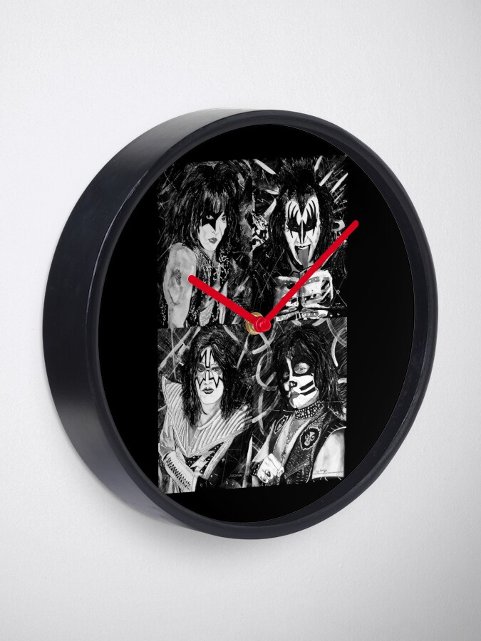 Alternate view of KISS® - Ink Original (Black and White) Clock