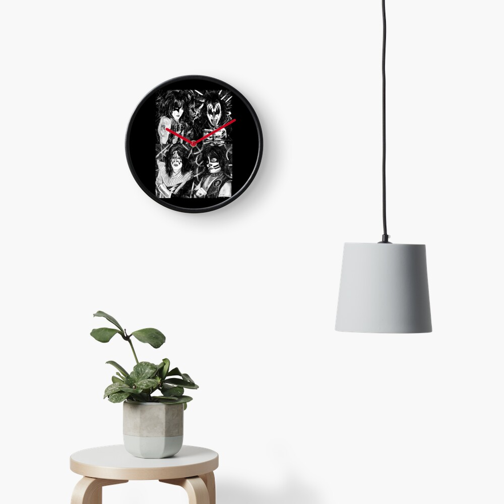 KISS® - Ink Original (Black and White) Clock
