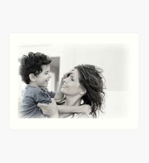 Mother & Son Art Print
