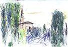 Campanile of San Giorgio Maggiore from Giudecca by John Douglas