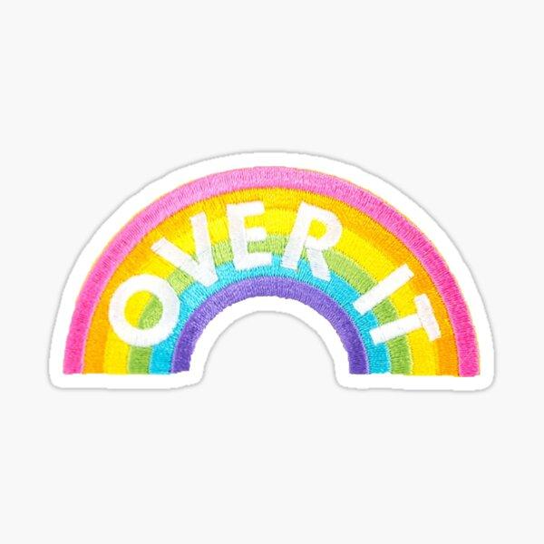 Over It Rainbow Patch Sticker