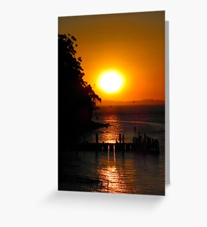 Sunset over Jetty Greeting Card