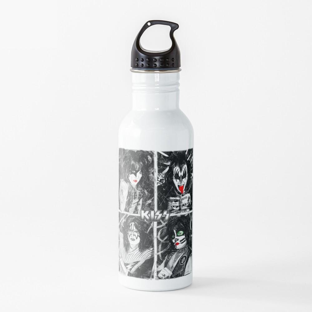 KISS® - Ink Original (Colour Splash with Logo) Water Bottle